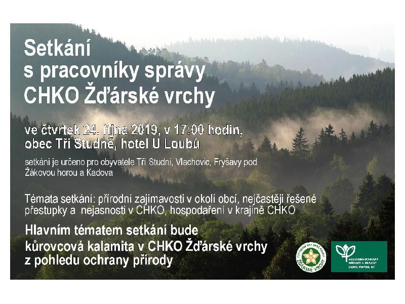 Setkání s pracovníky správy CHKO Žďárské vrchy 24.10.2019